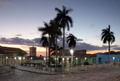 View of plaza mayor in cuba, trinidad Royalty Free Stock Image