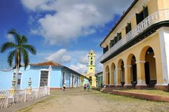 View of Plaza Mayor in Trinidad. Cuba. OCT 2008 Stock Photo