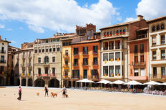 View of Plaza Mayor in Vic, Catalonia Stock Photo