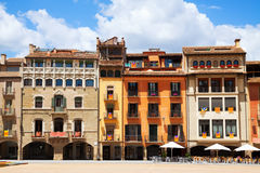 View of Plaza Mayor in Vic Stock Images