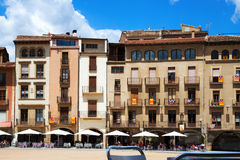 View of Plaza Mayor in Vic Stock Photo