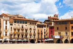 View of Plaza Mayor in Vic Royalty Free Stock Photography