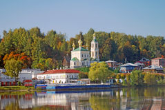 View of Ples town, Russia. Royalty Free Stock Photo