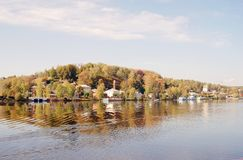 View of Ples town, Russia. Royalty Free Stock Photos