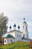 View of Ples town, Russia. Saint Barbara church Stock Photo
