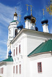 View of Ples town, Russia. Saint Barbara church Stock Photos