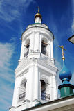 View of Ples town, Russia. Saint Barbara church Stock Photography