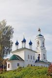 View of Ples town, Russia. Saint Barbara church Royalty Free Stock Images