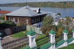 View of Ples town, Russia. Stock Photography