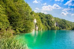View on the plitvice lakes. View on the blue and green plitvice lakes Royalty Free Stock Image