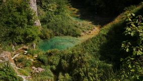 View of Plitvice Lakes National park.  stock footage