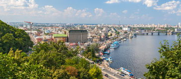 View of Podil from an observation point Stock Image