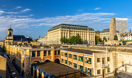 View of Poelaert Square in Brussels Royalty Free Stock Images