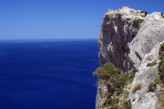 View point 2. View point on a cliff above the sea in Majorca in Spain royalty free stock photo