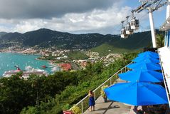 View Point. Panorama of St.Thomas island from the popular view point (U.S. Virgin Islands Stock Photo