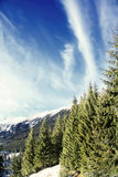 View-point. Beautiful landscape seen from Zanoaga,Piatra Craiului mountains Royalty Free Stock Photo