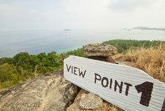 View point of Adang Island, Thailand Royalty Free Stock Image