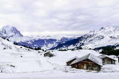 The view point of the Alps Mountains Stock Images