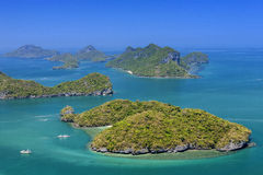 View point of Ang Thong Islands national park Stock Photos