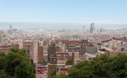 View point of Barcelona. Royalty Free Stock Photos