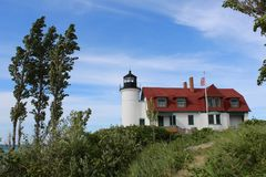 Point Betsie Lighthouse Frankfort Michigan Royalty Free Stock Images