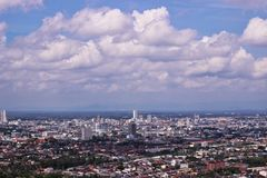 View point cityscape. At Hatyai Songkhla,Thailand Stock Image