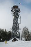 View point and communication tower. Stock Image