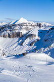 View of the Point de Chesery. Portes du Soleil,France Stock Photo