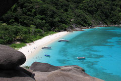 View point at Donald Duck Bay at Ko Similan Island in Similans n Royalty Free Stock Image