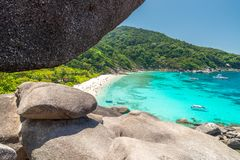 View point at Donald Duck Bay at Ko Similan Island in Similans n Royalty Free Stock Photography