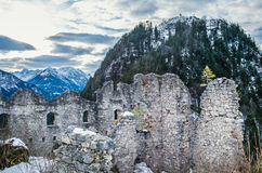 View point in the Ehrenberg castle in Titol Alps, Austria, obser Stock Image