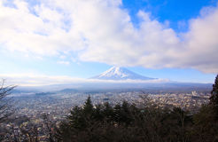 View point of Fujiyama Stock Photos