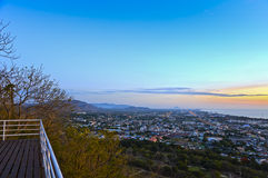 View point Hua Hin city at sunrise Royalty Free Stock Photos