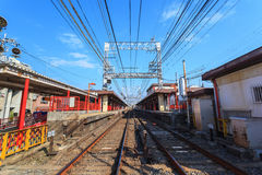 View point of Japan railway at Kyoto Stock Images