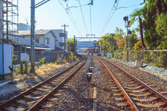 View point of Japan railway at Kyoto Royalty Free Stock Image