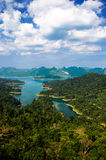 View point at Khaosok National Park. Ratchaprapha Dam, Thailand Royalty Free Stock Photography