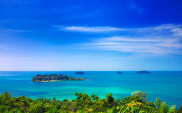 View point Koh Chang Island, Thailand. View from Ko Chang to the Island Koh Man Nai, Thailand Stock Images