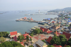 View point from Koh Loy harbor. At Sriracha district, Thailand Stock Photos