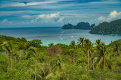 View Point Koh Phi Phi Don in andaman sea, Phuket, Krabi, South of Thailand Stock Photo