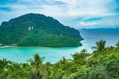 View Point Koh Phi Phi Don in andaman sea, Phuket, Krabi, South of Thailand Royalty Free Stock Image