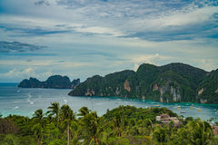 View Point Koh Phi Phi Don in andaman sea, Phuket, Krabi, South of Thailand Royalty Free Stock Images