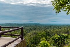 The view point of landscape at Pha Chor National Park, Chiang Mai, Thailand. stock photos