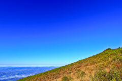 View point on the mountain Stock Photo