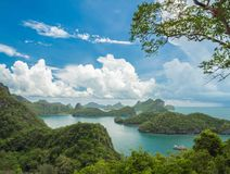 View point of Mue Koh Angthong National Park, Samui Royalty Free Stock Image