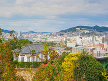 View Point of Nagasaki city from Glover garden Royalty Free Stock Photo