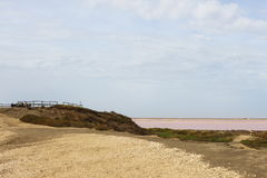 View point over saltlakes Mas des Crottes, Camargue, France Royalty Free Stock Photos
