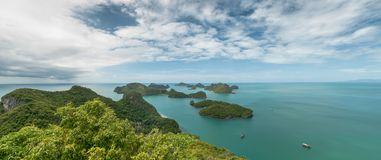 View point panorama of Ang Thong Islands national park Royalty Free Stock Photo