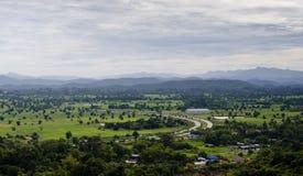 View point from Phaputachai Saraburi Stock Image