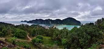 View point at Phi Phi island in Thailand stock image