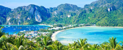 View point at Phi-Phi island Royalty Free Stock Photos